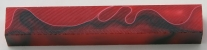 [PBARBWR] Acrylic Pen Blank Red , Black & White Ribbon