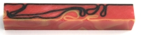 [PBAROBR] Acrylic Pen Blank Red Orange and Black Ribbon