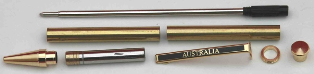 [Pen Aust] Pen Kit Australian Clip Twist Mechanism