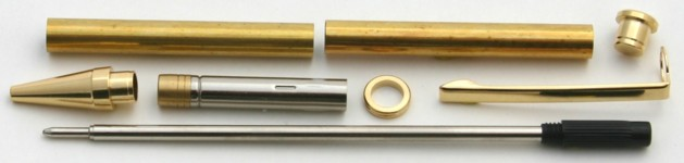 [PENMG] Pen Kit Twist Mechanism with Gold Plated Clip