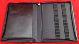 [PENZLB26] Pen Zip Leather Binder 26 Pen