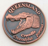 [SCQCB] Souvenir Coin Queensland Crocodile Antique Bronze