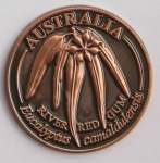 [SCARRGB]Souvenir Coin Australia River Red Gum Antique Bronze