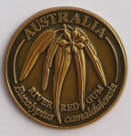 [SCARRGG]Souvenir Coin Australia River Red Gum Antique Gold