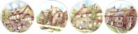 Stone Cottages Set of 4 (150mm)