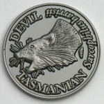 SCTDN Souvenir Coin Tasmanian Devil Antique Nickel