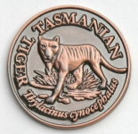 SCTTB Souvenir Coin Tasmanian Tiger Antique Bronze