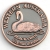 SCWABSB Souvenir Coin West Aust Black Swan Antique Bronze