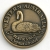 SCWABSG Souvenir Coin West Aust Black Swan Antique Gold