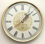 [WIC130CGIR] Clock 130mm Ivory Face Roman Numerals